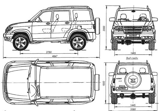 схема автомобиля УАЗ